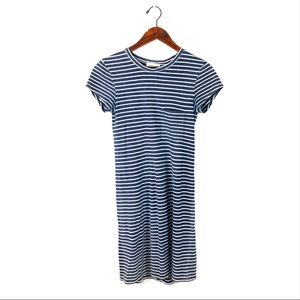 Cloth & Stone tunic dress striped front pocket xs